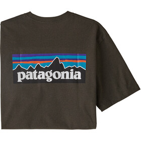 Patagonia P-6 Logo Camiseta responsable Hombre, logwood brown